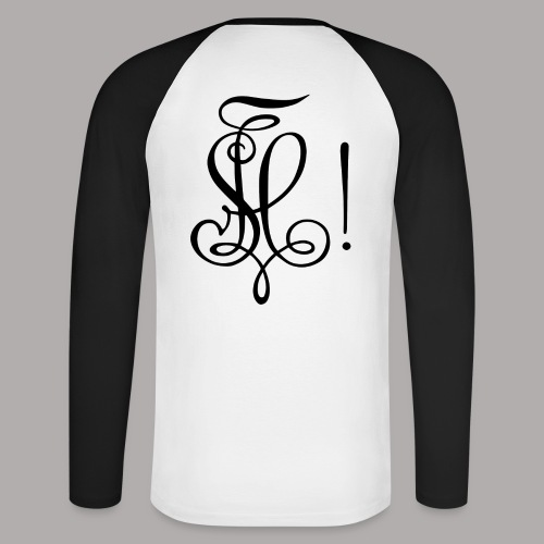 Zirkel, schwarz (hinten) - Männer Baseballshirt langarm