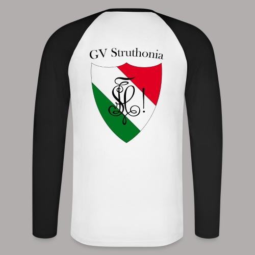 Wappen Struthonia beschriftet - Männer Baseballshirt langarm