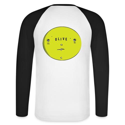 OLIVE FACE - Men's Long Sleeve Baseball T-Shirt