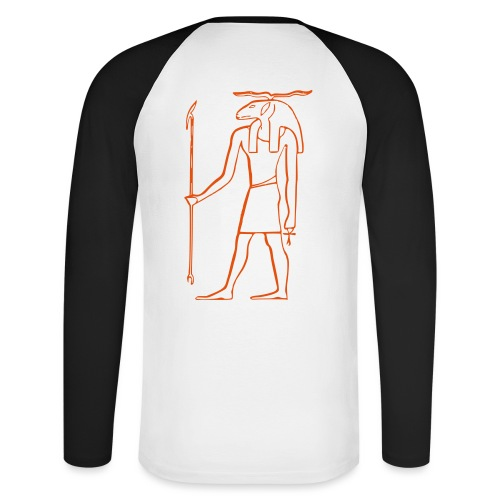 Ancien Dieu Egyptien - T-shirt baseball manches longues Homme
