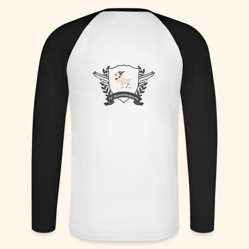 FC Aussenpappele Logo - Männer Baseballshirt langarm