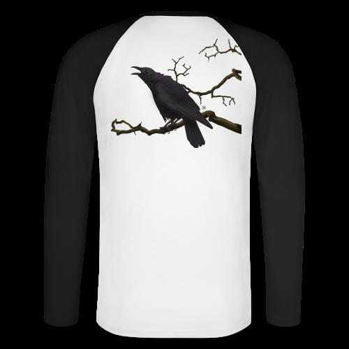 Cuervo negro - Raglán manga larga hombre