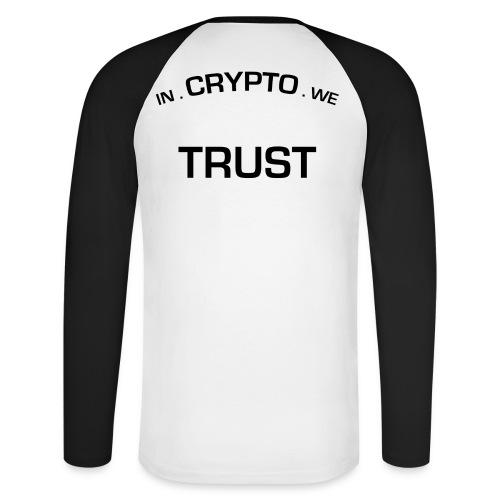 In Crypto we trust - Mannen baseballshirt lange mouw