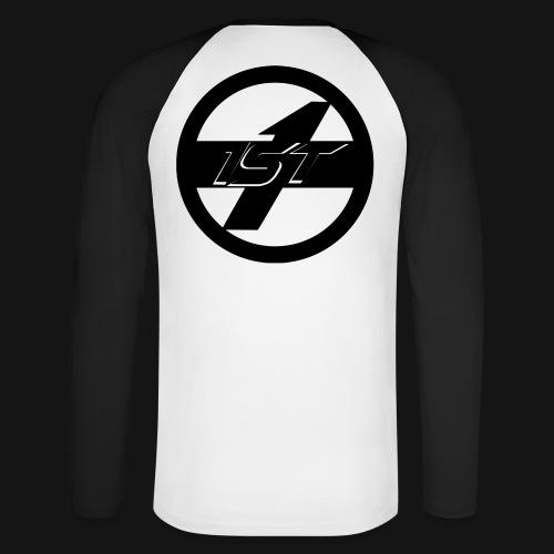 1ST Logo - Männer Baseballshirt langarm