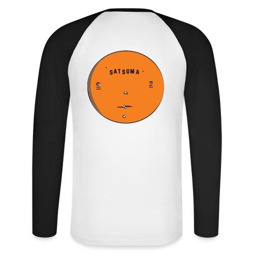 SATSUMA FACE - Men's Long Sleeve Baseball T-Shirt