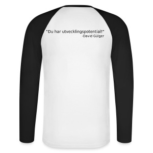 Ju jutsu kai förslag 1 version 1 svart text - Långärmad basebolltröja herr