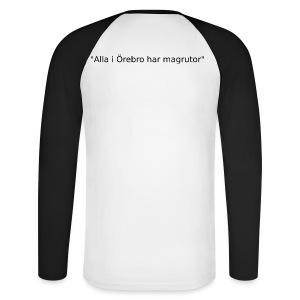 Ju jutsu kai förslag 2 version 1 svart text - Långärmad basebolltröja herr