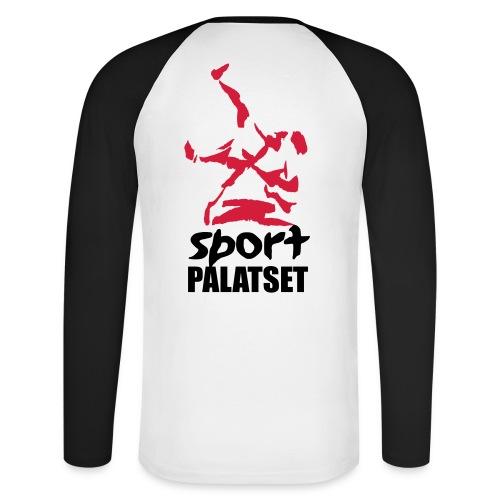 Motiv med svart och röd logga - Långärmad basebolltröja herr