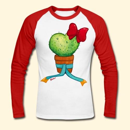 Cactus Coeur - T-shirt baseball manches longues Homme