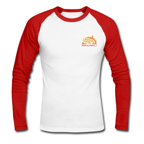 Pizza.is.life24_7 - Männer Baseballshirt langarm