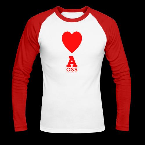 HERZ ASS - Männer Baseballshirt langarm