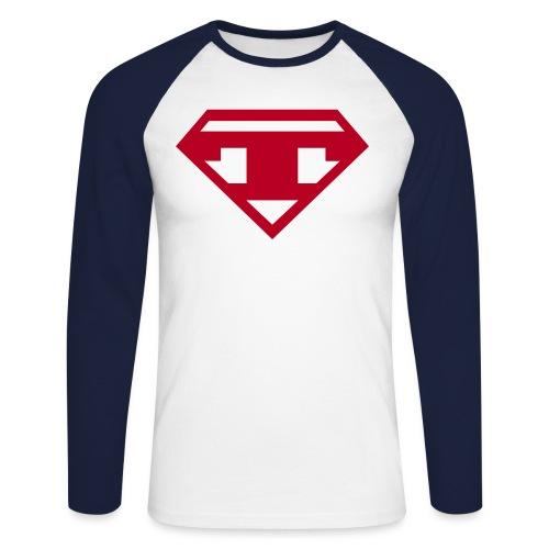 Twanneman logo - Mannen baseballshirt lange mouw