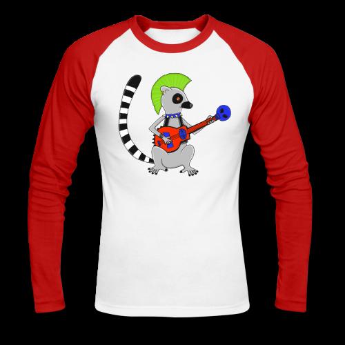 Katta-Punk - Männer Baseballshirt langarm