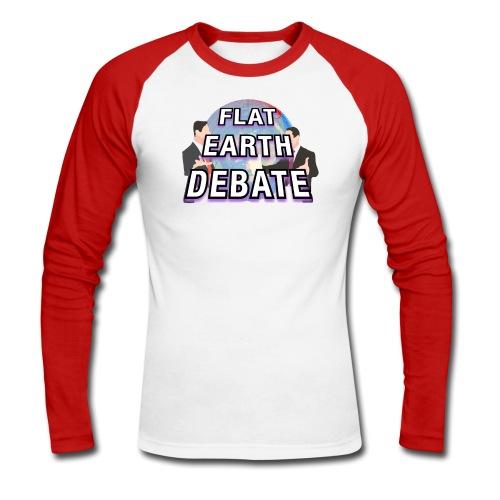 Flat Earth Debate Solid - Men's Long Sleeve Baseball T-Shirt