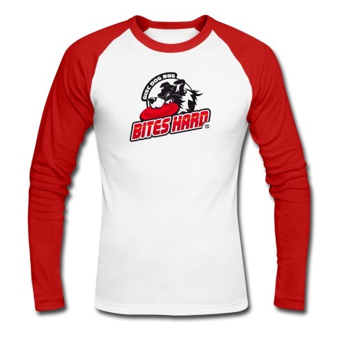 Disc Dog Bug Bites Hard - Men's Long Sleeve Baseball T-Shirt