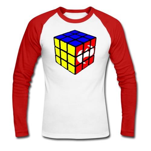 Highfish rubixcube - Männer Baseballshirt langarm