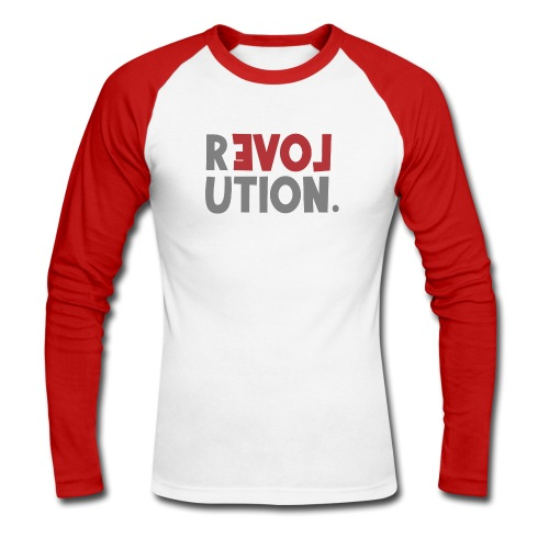 Revolution Love Sprüche Statement be different - Männer Baseballshirt langarm