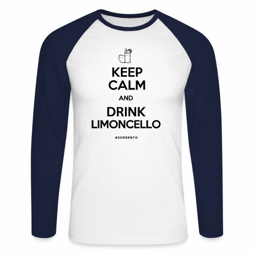 Restez calme et buvez du Limoncello - T-shirt baseball manches longues Homme