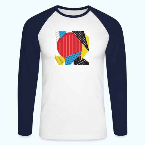 Geometry collage Abstract colors - Men's Long Sleeve Baseball T-Shirt