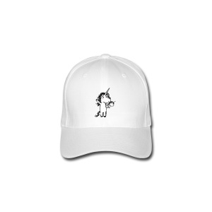Unicorn with his happy friend - Flexfit Baseball Cap
