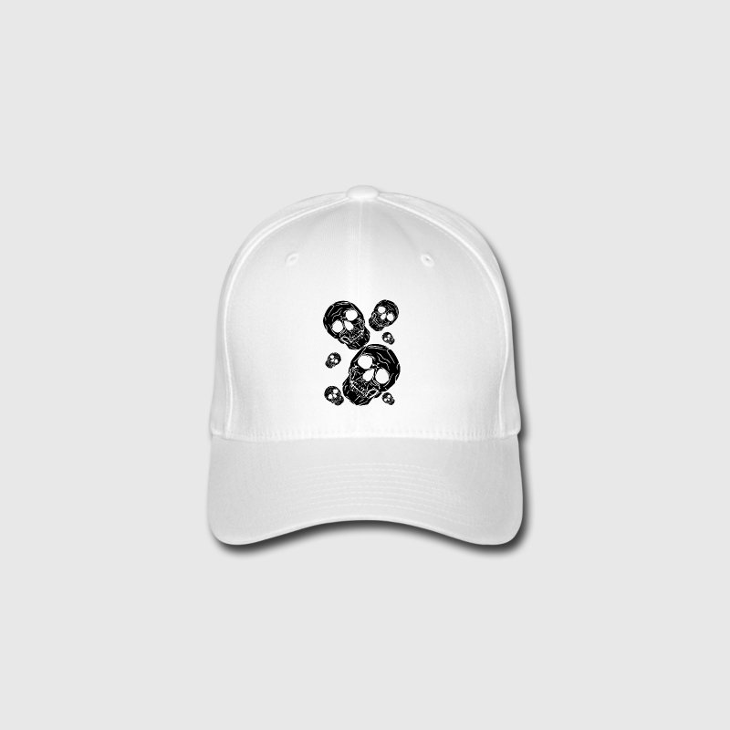 multiple skulls - Flexfit Baseball Cap