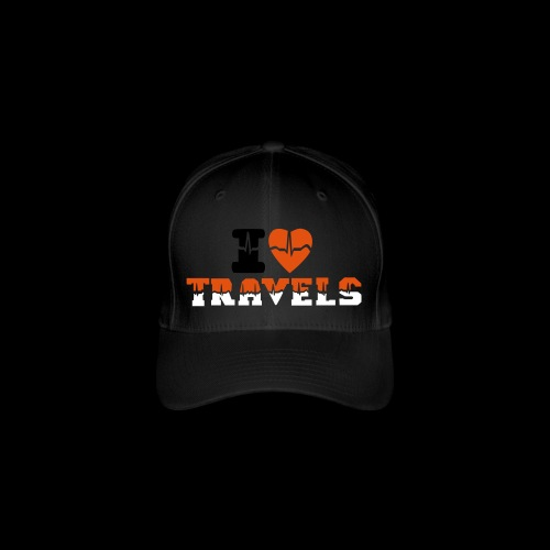 i love travels for life - Flexfit Baseball Cap