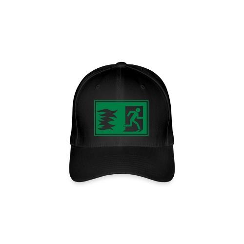 Notausgang / Feueralarm Symbol - Flexfit Baseballkappe