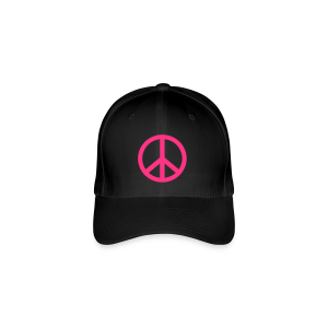 Gay pride peace symbool in roze kleur - Flexfit baseballcap