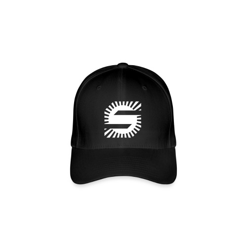 SpaceS Black texted - Flexfit baseballcap