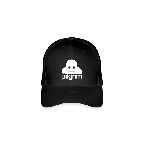 Mr Pilgrim Logo (Black) - Flexfit Baseball Cap