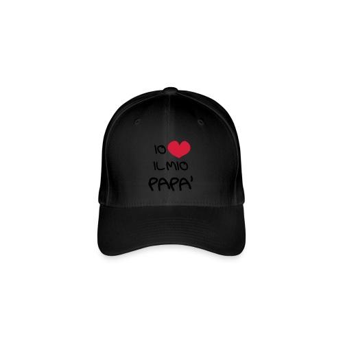 Io Amo il Mio Papà - Cappello con visiera Flexfit