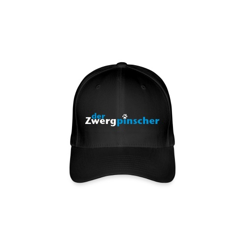 zwergpinscher logo vektor white - Flexfit Baseballkappe