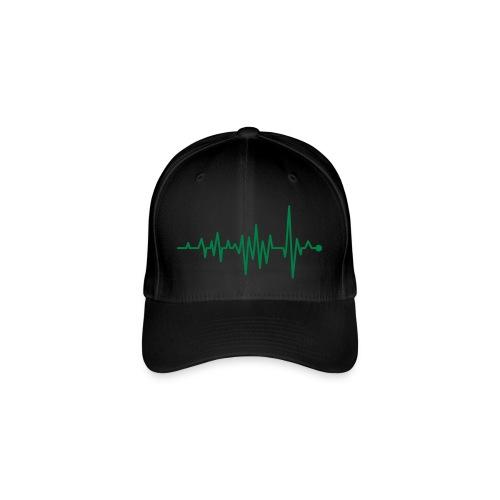 Kurve Herzschlag Rhythmus Oszillograph Puls EKG - Flexfit Baseball Cap