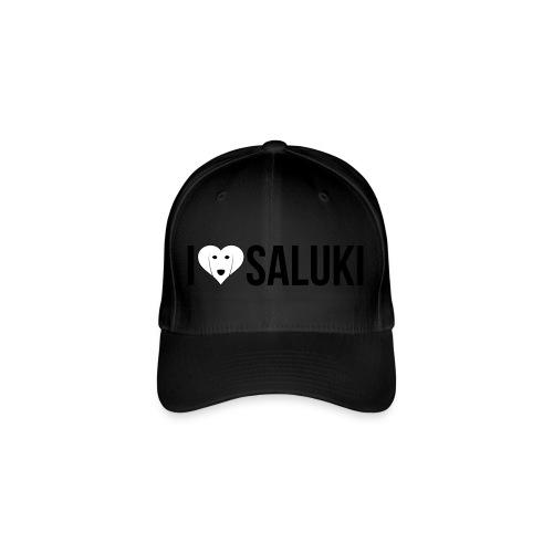 I Love Saluki - Cappello con visiera Flexfit