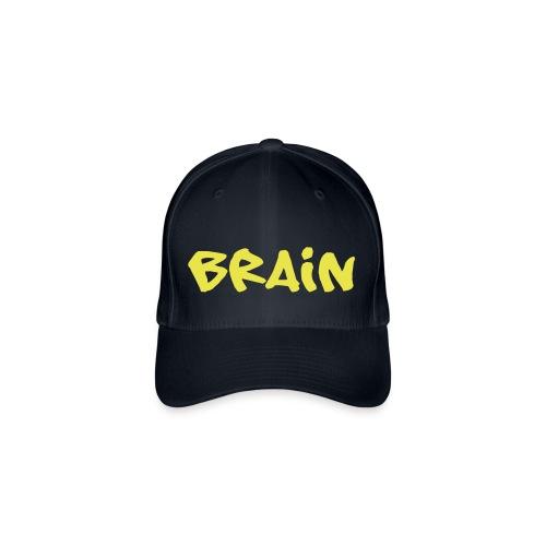 brain schriftzug - Flexfit Baseballkappe