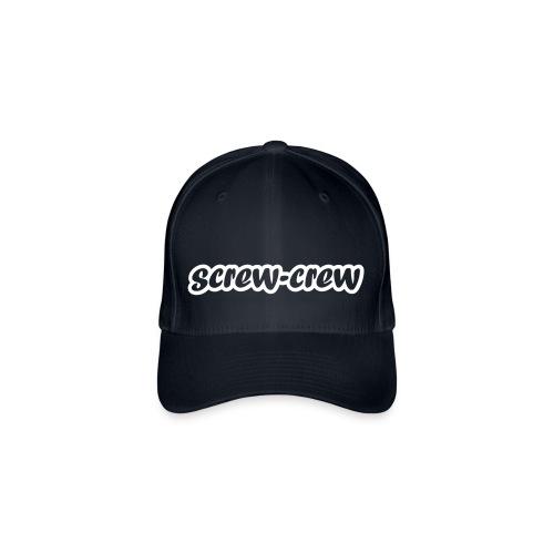 Schriftzug_screw-crew_Outline.eps - Flexfit Baseballkappe