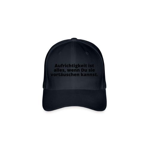 Aufrichtigkeit vortäuschen lügen schwindeln Zitat - Flexfit Baseball Cap
