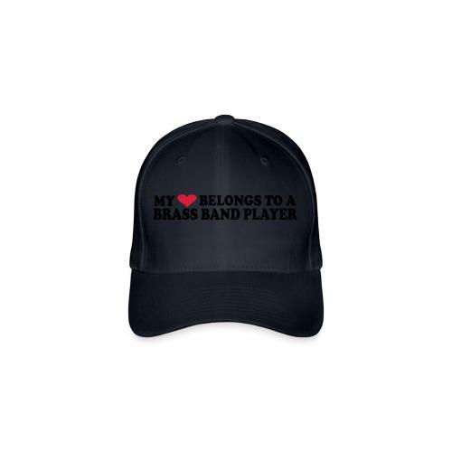 MY HEART BELONGS TO A BRASS BAND PLAYER - Flexfit baseballcap