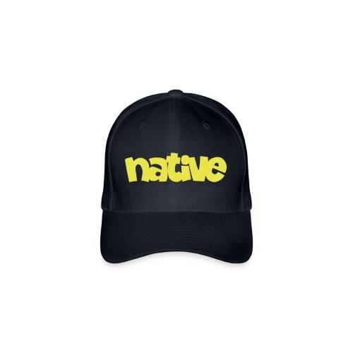 native-plain - Flexfit Baseballkappe