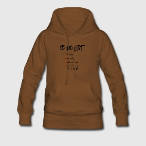 To do List für Hundeliebhaber - Frauen Premium Hoodie