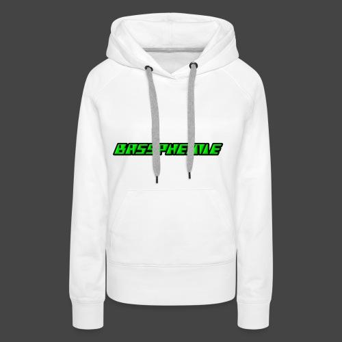 Bassphemie - Neongrün - Frauen Premium Hoodie