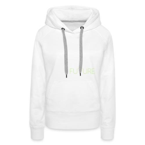 T-Shirt Shutter with Logo Text white and green - Premiumluvtröja dam