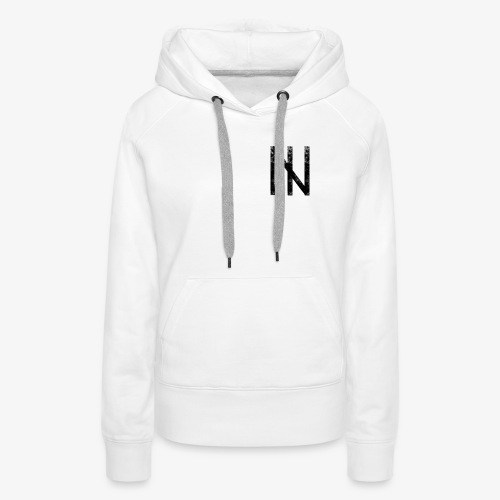 Black Logo on White - Frauen Premium Hoodie
