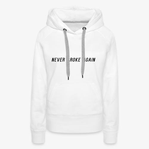 Black logo - Sweat-shirt à capuche Premium pour femmes