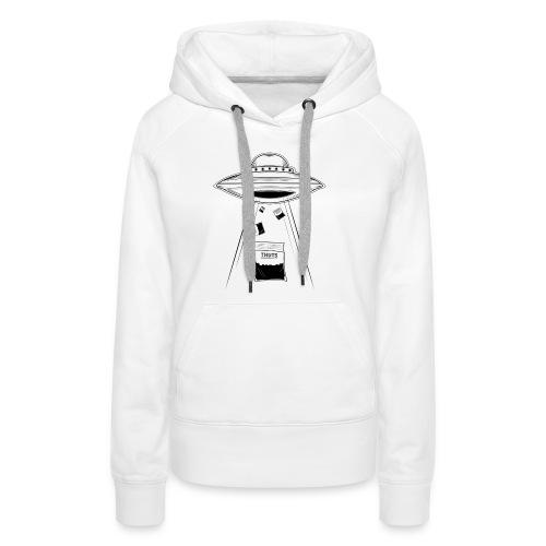 UFO thuts - Sweat-shirt à capuche Premium pour femmes