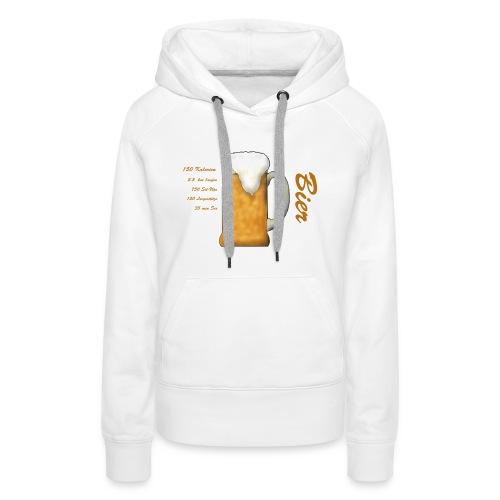 The real cost of Beer. Der wahre Preis des Bieres. - Frauen Premium Hoodie