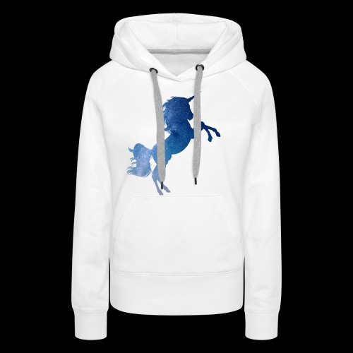 Galaxy Unicorn - Blue - Frauen Premium Hoodie