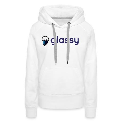 Glassy Unisex T shirt - Sudadera con capucha premium para mujer