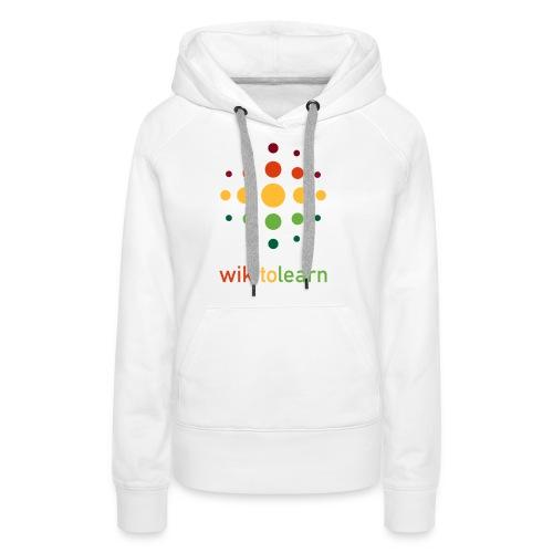 wikitolearn-logo - Felpa con cappuccio premium da donna