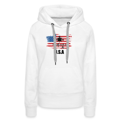 Proud American T-Shirt by Louittor - Frauen Premium Hoodie